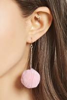 Forever 21 FOREVER 21+ Pom Pom Drop Earrings