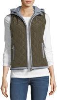 Brandon Thomas Fleece-Hooded Puffer Vest