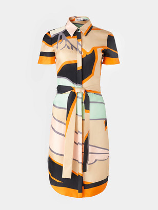 Diane von Furstenberg Ari Silk-Twill Shirt Dress