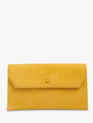 LK Bennett Dora Suede Clutch Bag