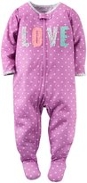 Carter's Love Slogan Footie (Toddler) - Print - 3T
