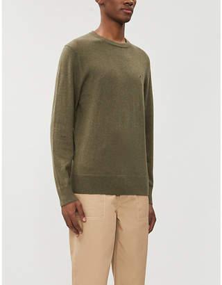 Tommy Hilfiger Crewneck brand-embroidered cotton-blend jumper