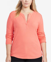 Lauren Ralph Lauren Plus Size Slim-Fit Long-Sleeve Henley