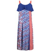 Kenzo KidsGirls Blue & Red Patterned Crepe Dress