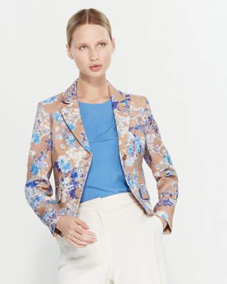 Les Copains Floral Print Wool Jacket