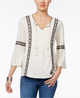 Style&Co. Style & Co Embroidered Lace Top, Only at Macy's