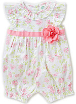Little Me Baby Girls 3-12 Months Ruffle Floral-Print Romper