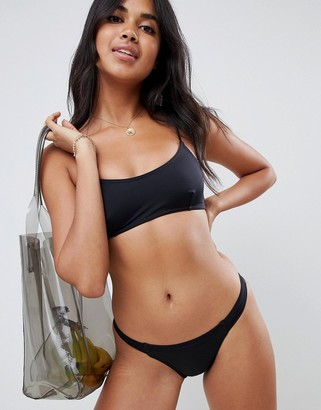 ASOS DESIGN recycled mix and match strappy back crop bikini top