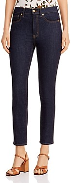 Tory Burch Straight-Leg Jeans in Resin Rinse