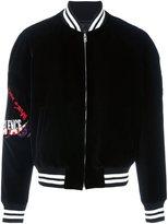 Maison Margiela embroidered velvet varsity jacket