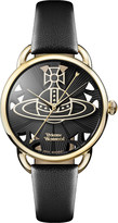Vivienne Westwood VV163BKBK Leadenhall genuine leather strap watch
