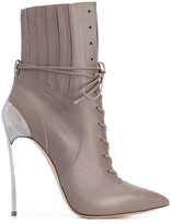 Casadei Techno Blade lace-up booties - women - Calf Leather/Leather - 36