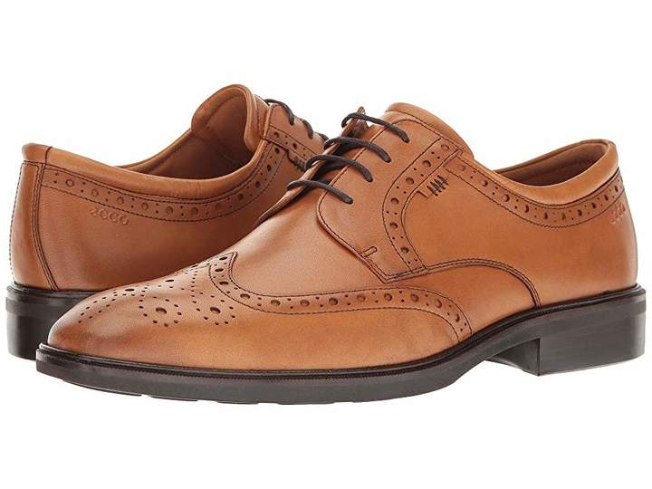Ecco Illinois Wing Tip Tie Men's Lace Up Wing Tip Shoes