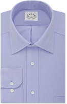 Eagle Men's Non-Iron Classic-Fit Stretch Collar Blue Solid Dress Shirt