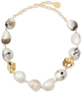 Devon Leigh Snow Leopard Moonstone Nugget Necklace