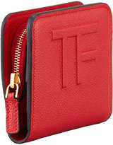 Tom Ford Small Zip Wallet, Flame Red