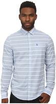 Original Penguin Horizontal Dobby W. End On End Stripe Long Sleeve Woven Heritage Shirt