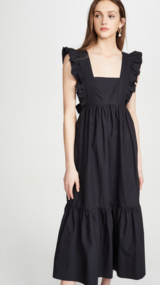 Self-Portrait Poplin Midi Dress
