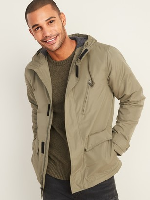 Old Navy Water-Resistant Jersey-Lined Hooded Jacket for Men
