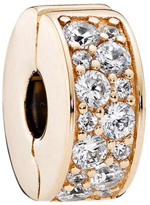Pandora 14K Cz Shining Elegance Clip Charm