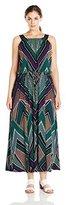 Calvin Klein Women's Plus-Size Maxi Dress with Stud Detail