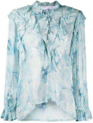IRO Cruis sheer ruffled blouse