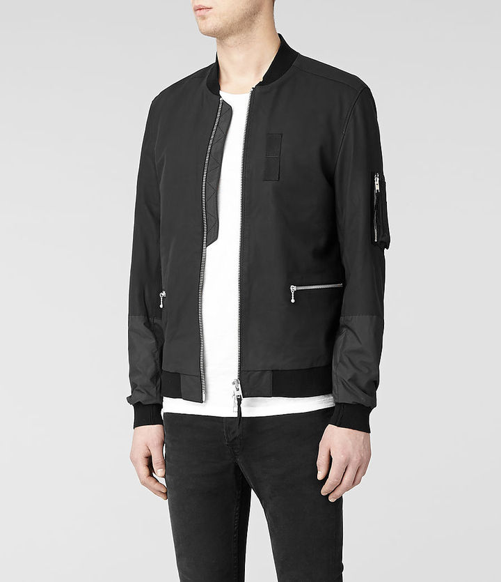 AllSaints Amity Leather Bomber Jacket