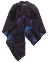 Burberry Patchwork Wool And Cashmere Blend Cape