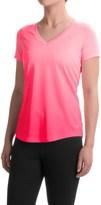 Layer 8 Dip-Dye Printed T-Shirt - V-Neck, Short Sleeve (For Women)
