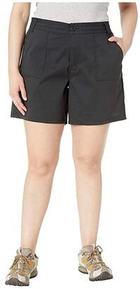 Prana Plus Size Olivia Shorts (Black) Women's Shorts
