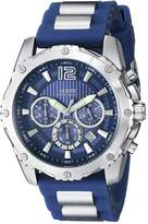 GUESS GUESS? Men's U0167G3 Rubber Quartz Watch