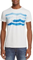 Sol Angeles Wave Stripe Distressed Graphic Tee