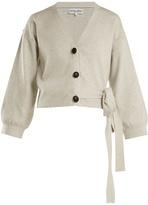 Apiece Apart Side-tie cotton and cashmere-blend cardigan