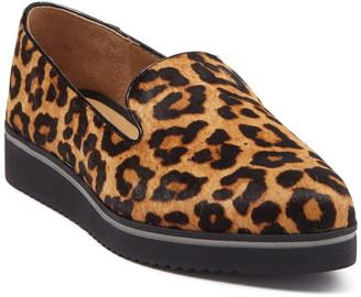 Franco Sarto Fabrina Genuine Dyed Leopard Print Calf Hair Slip-On Sneaker