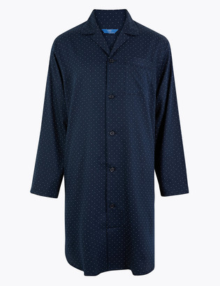 Marks and Spencer Pure Cotton Polka Dot Nightshirt