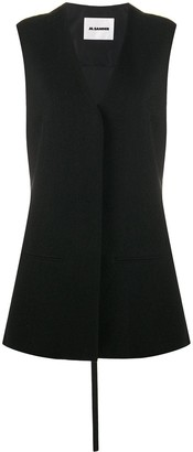 Jil Sander Sleeveless Long-Length Gilet