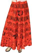 Maple Clothing Women Printed Cotton Long Skirt India Clothes
