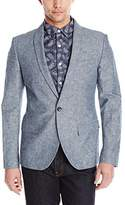 Original Penguin Men's Slim Fit Chambray Linen Shawl Collar Blazer