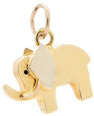 Stephanie Windsor Vintage 18K Yellow Gold Elephant Charm