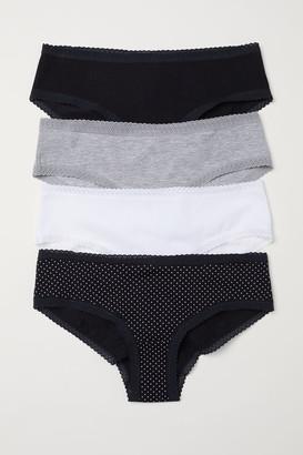 H&M 4-pack Cotton Hipster Briefs - Black