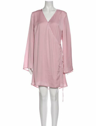 Cupcakes And Cashmere V-Neck Mini Dress w/ Tags Pink