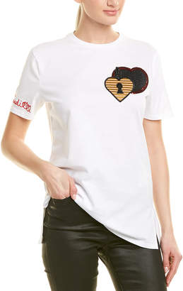 Fendi Silk-Trim T-Shirt
