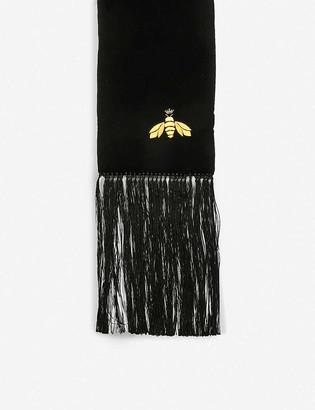 Beatrice Jenkins Bee Lux velvet scarf