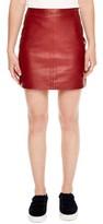 Sandro Women's Leather Skirt