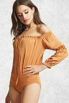 Forever 21 Off-the-Shoulder Peasant Bodysuit
