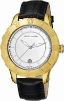 Pierre Cardin Men's Quartz Watch Analogue Display And Leather Strap Dial Color