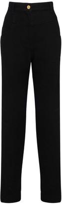 Alberta Ferretti High Waist Cotton Denim Pants