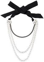 Lanvin multi strand pearl necklace