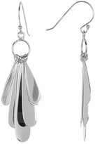 Argentovivo Sterling Silver Teardrop Charm Earrings