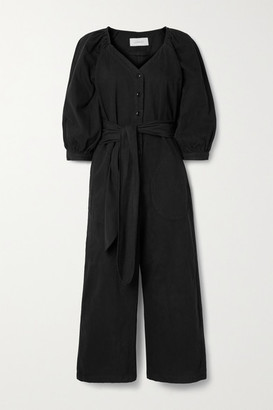 The Great The Field Belted Cotton-twill Jumpsuit - Black